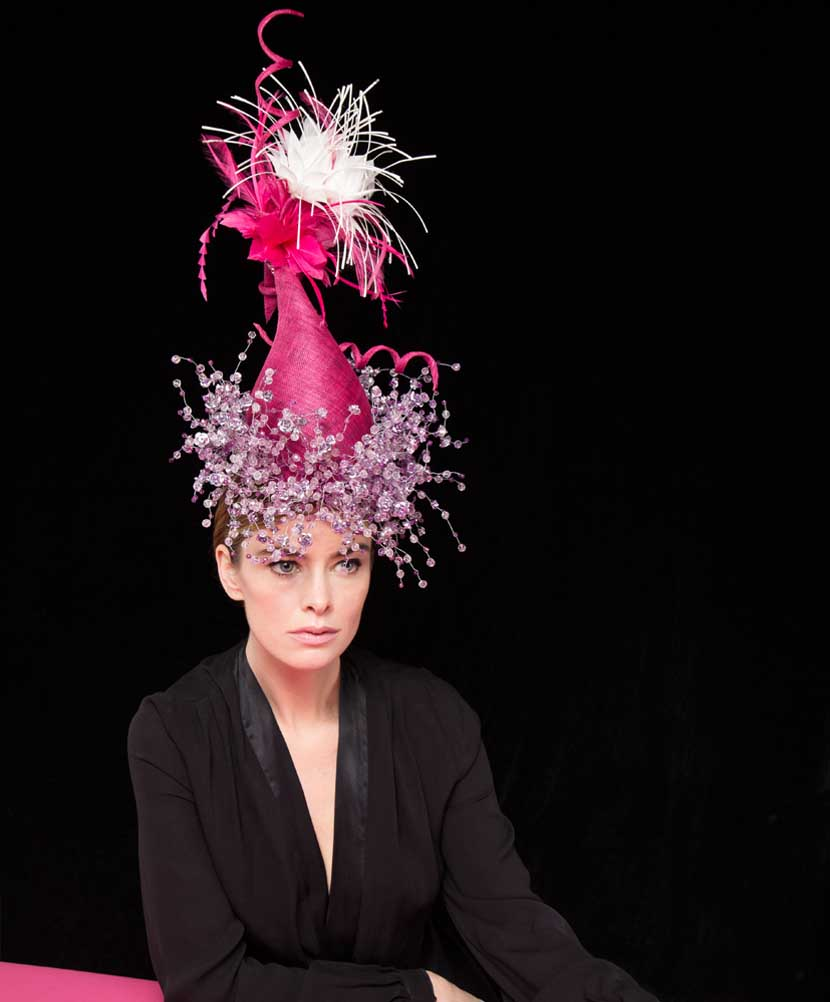 Model wearing the Trinity headpiece - part of the Couture Collection